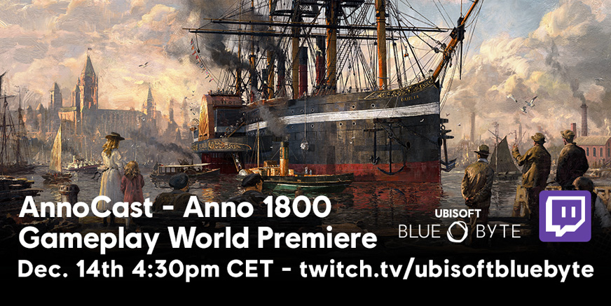 AnnoCast 02: Anno 1800 LIVE at 4.30 PM