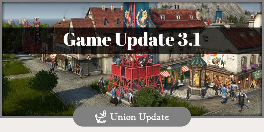 Union Update: Game Update 3.1