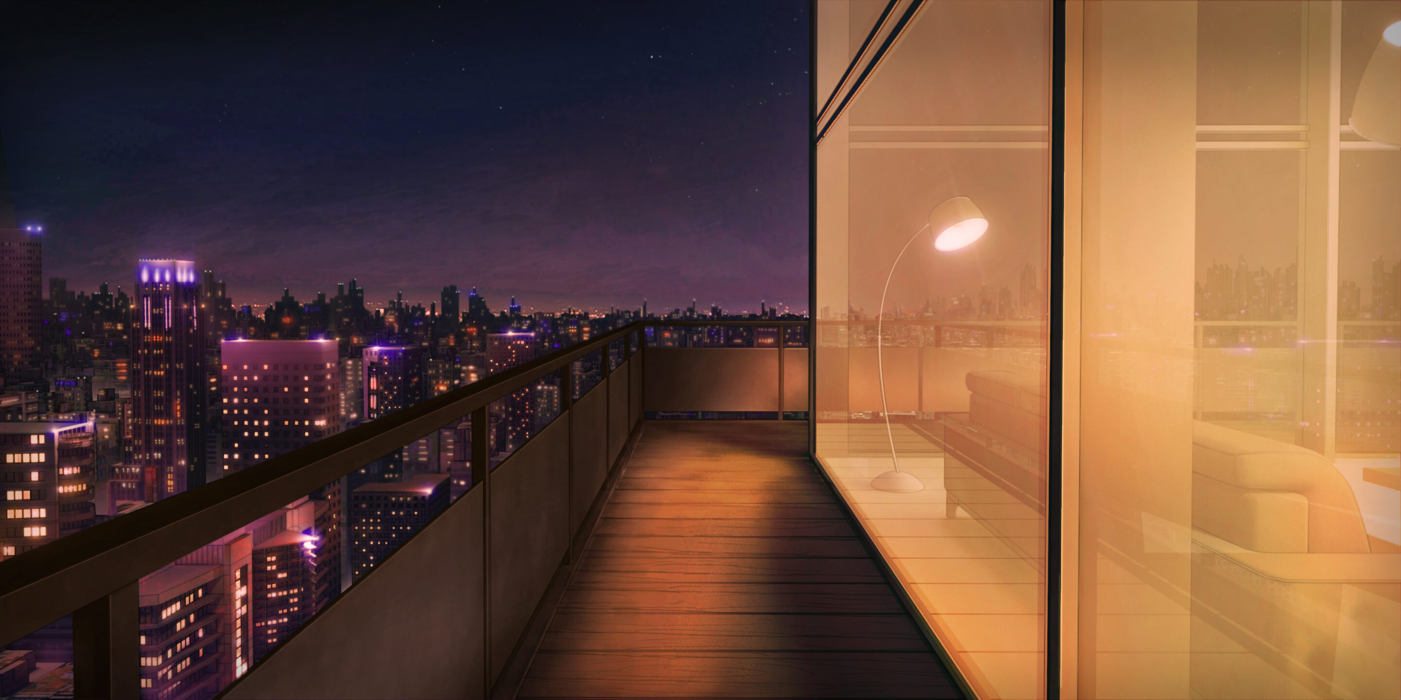 Terrasse de Gabriel dans le visual Novel Is It Love