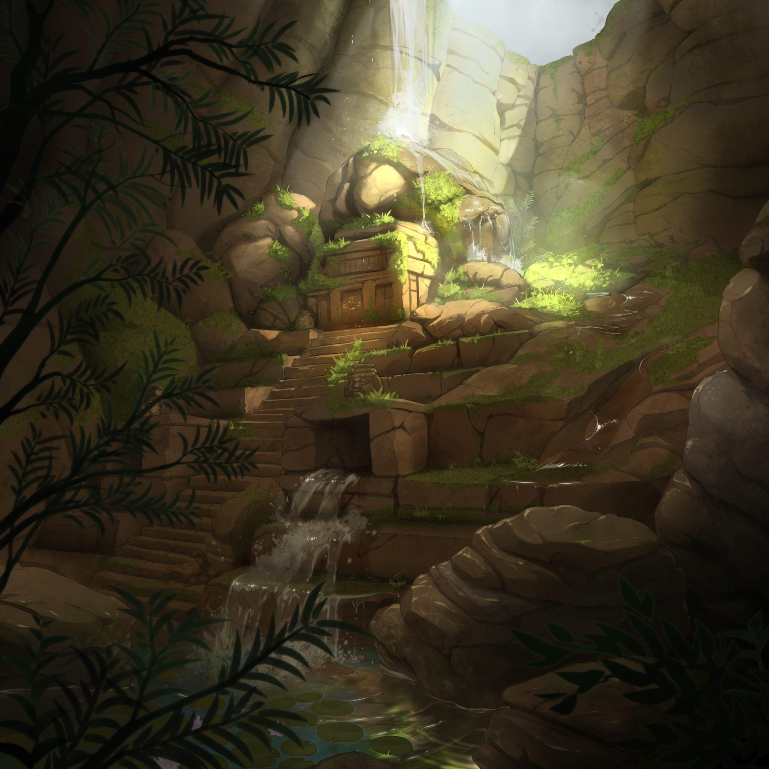 Sebastian personnage de Is It Love et vue d'un temple