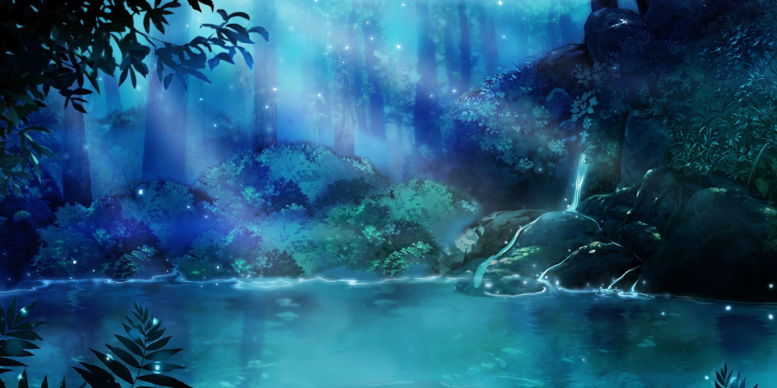 Sebastian personnage de Is It Love et vue d'une cascade