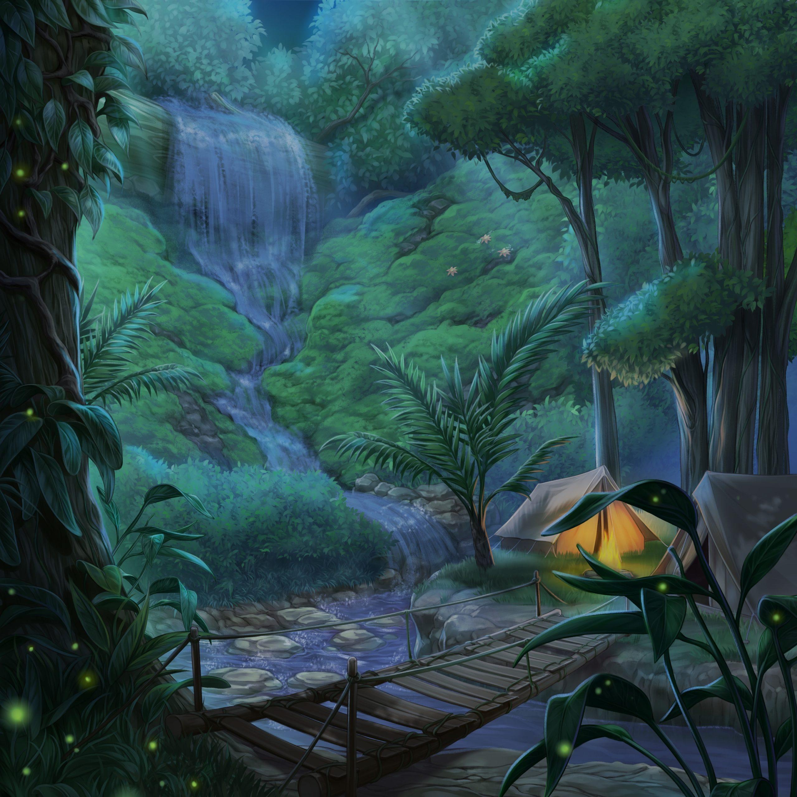 Sebastian personnage de Is It Love et vue de la jungle