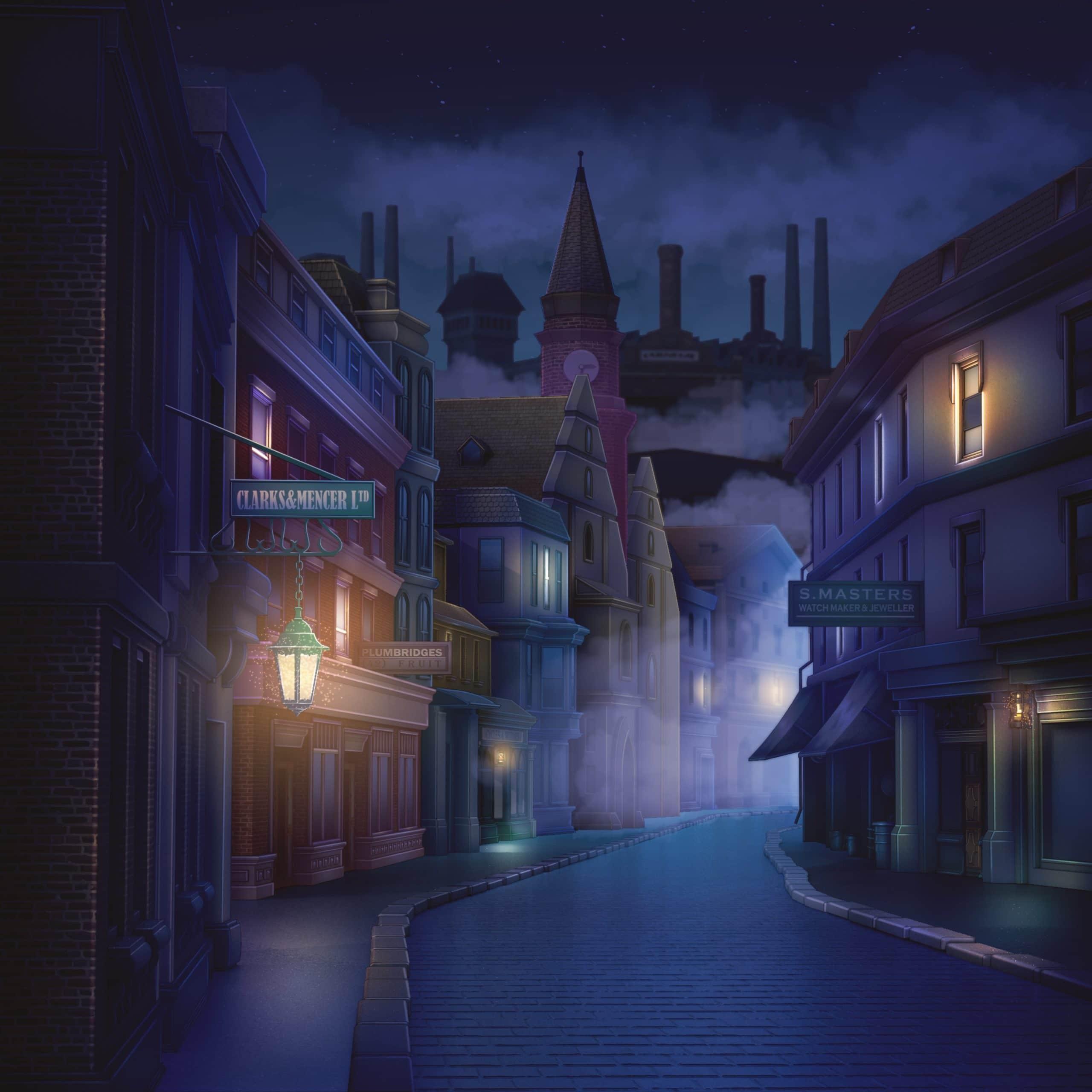 Nicolae personnage de Is It Love et vue de Londres la nuit