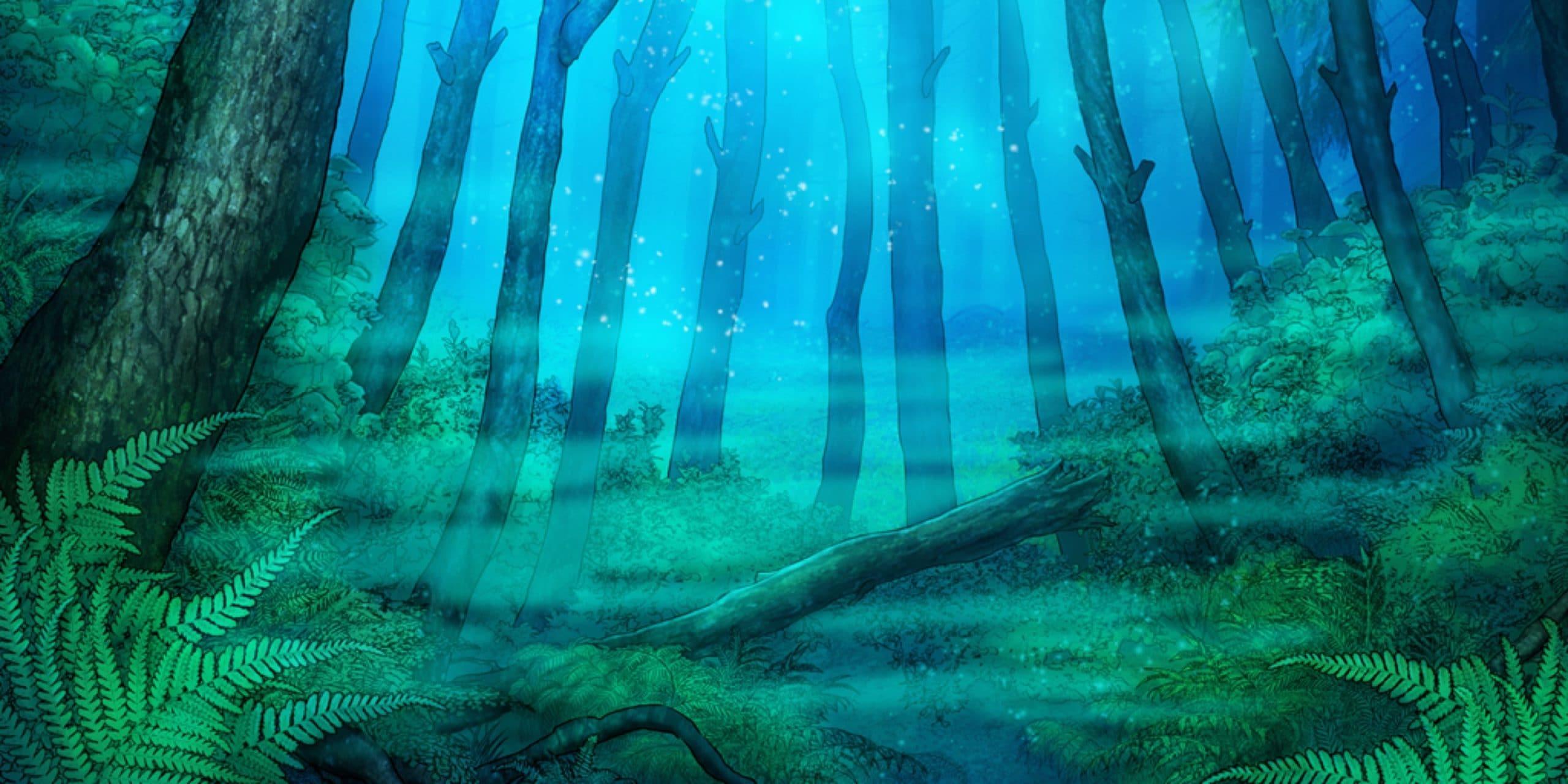 Nicolae personnage de Is It Love et vue de forêt