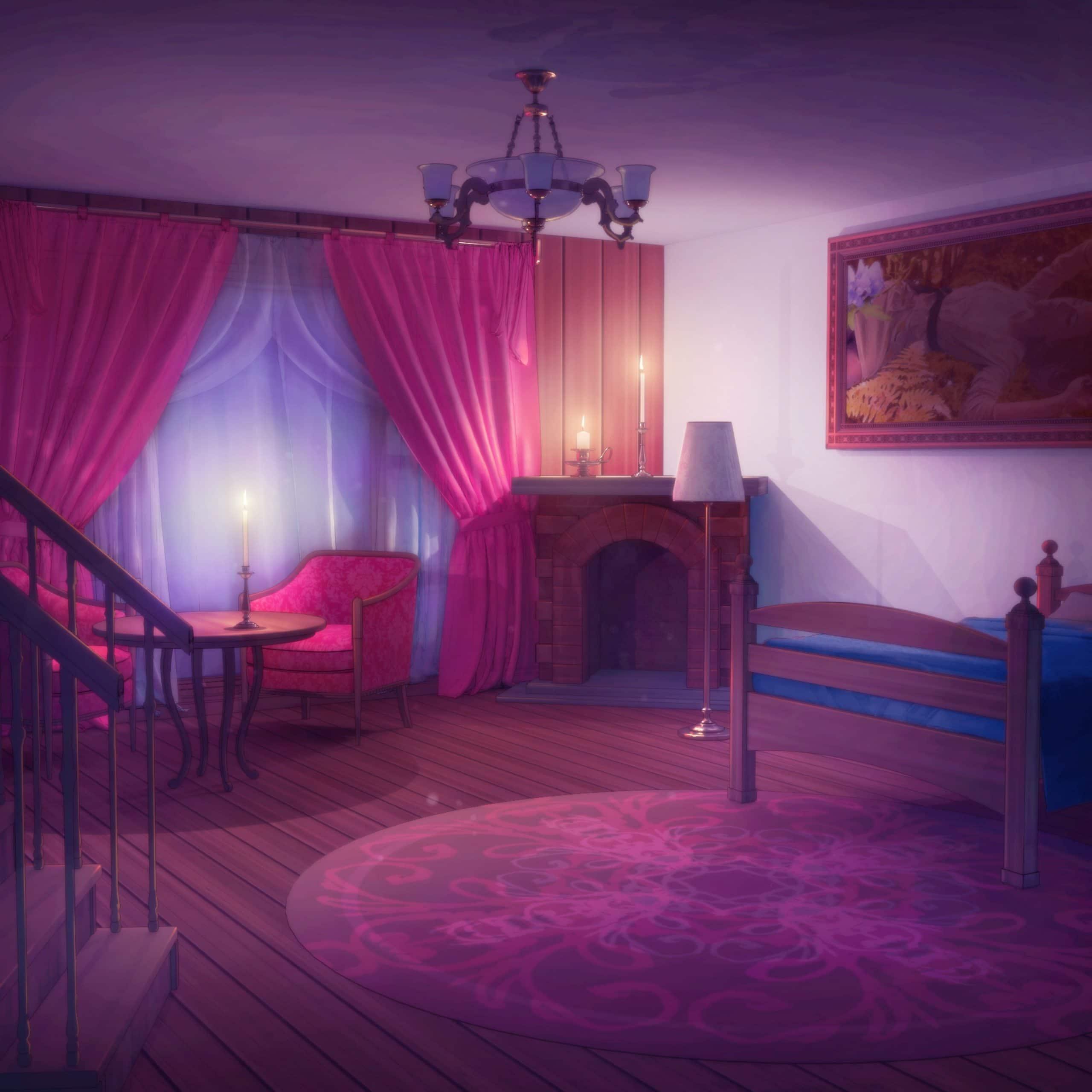 Peter personnage de Is It Love et vue d'une chambre romantique