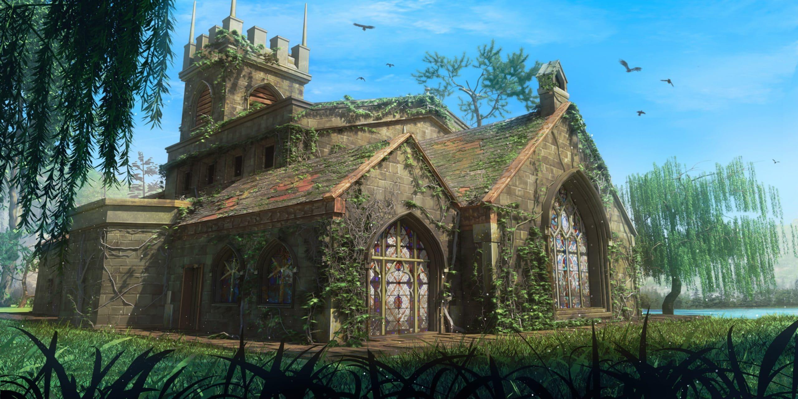 Peter personnage de Is It Love et vue d'une chapelle
