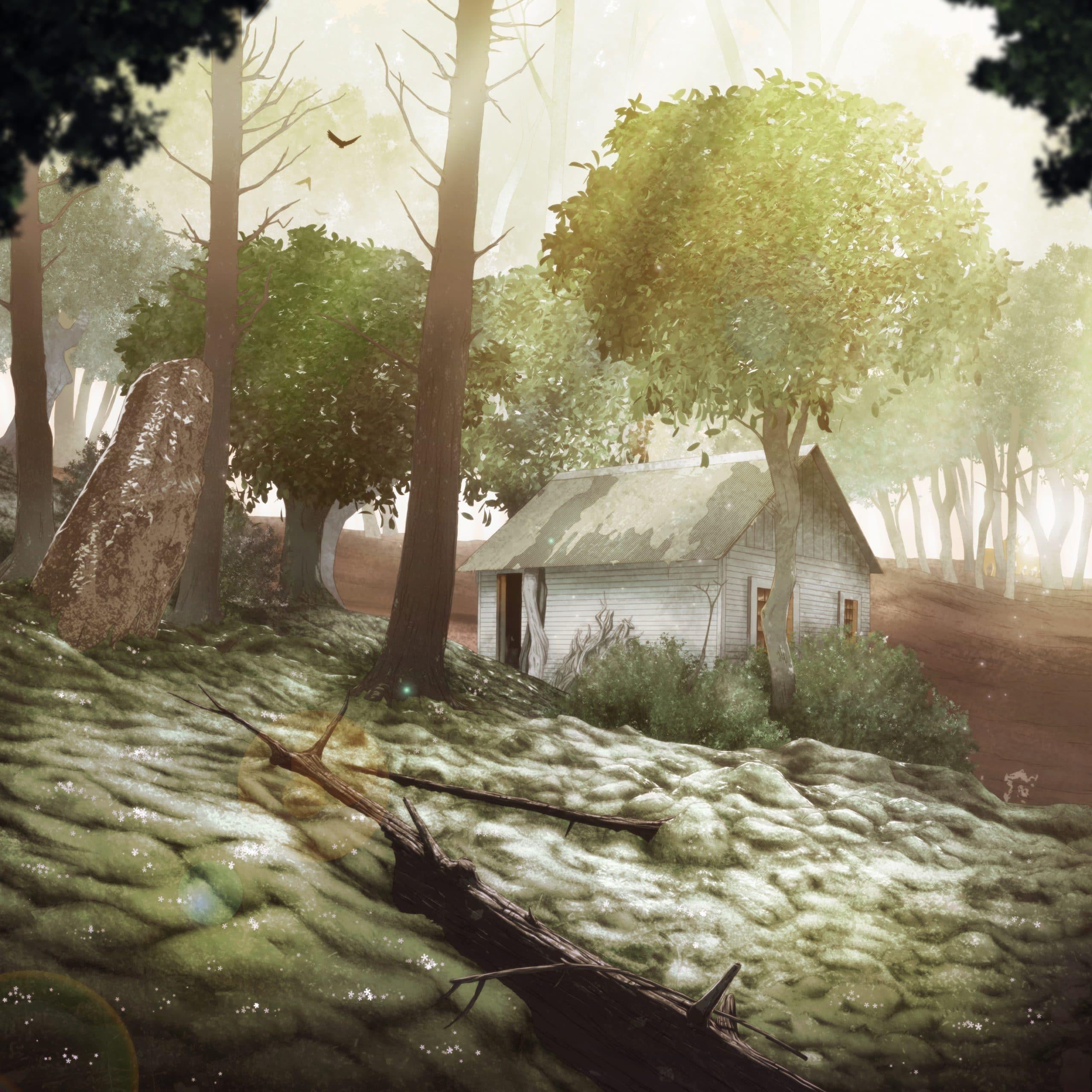 Drogo personnage de Is It Love et le décor de forêt