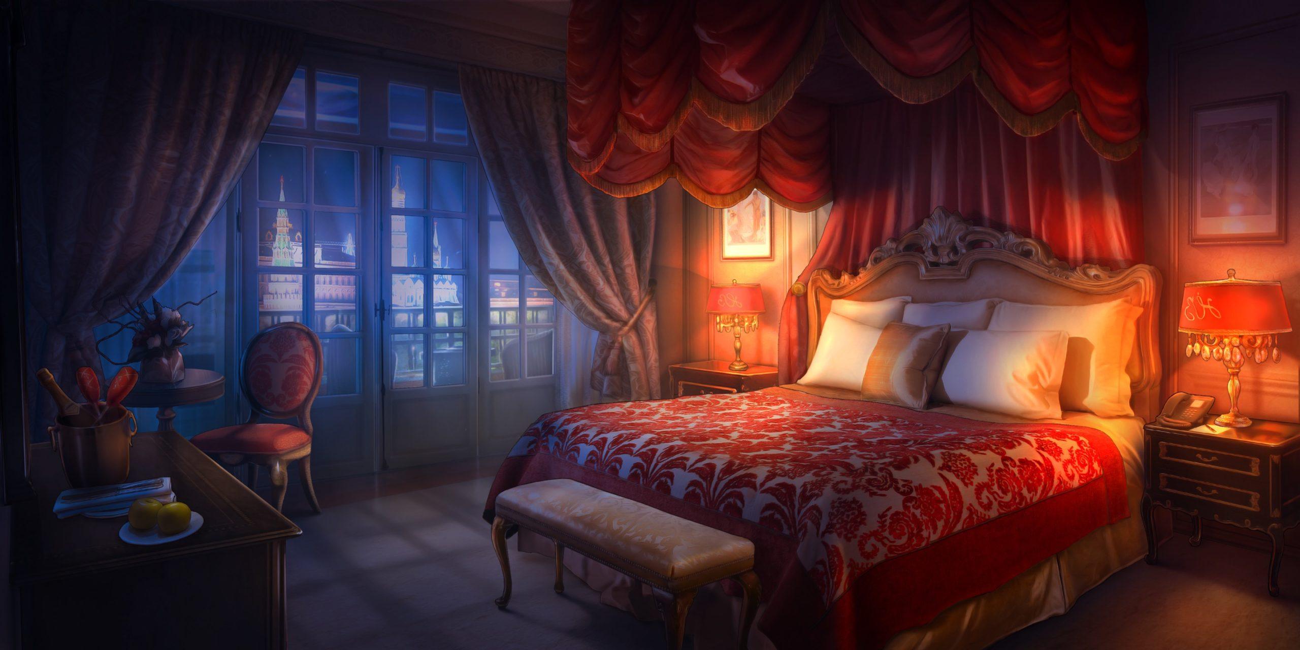 jake personnage de Is It Love et le décor d'une chambre
