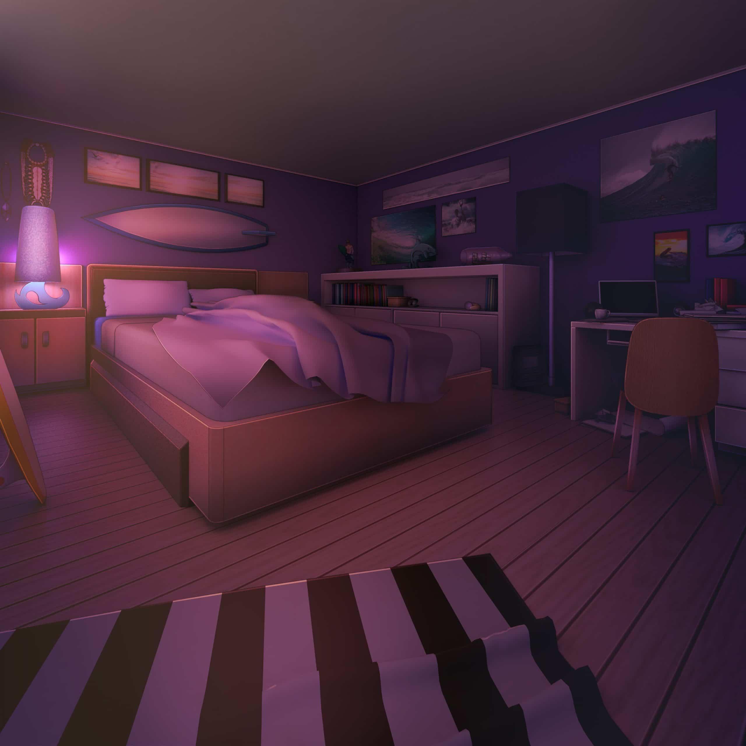 Adam personnage de Is It Love dans une chambre