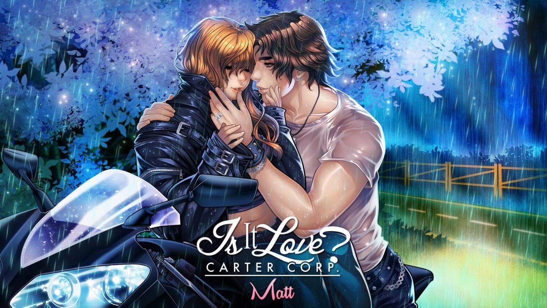 Matt du jeu I s It Love avec une femme sur une moto
