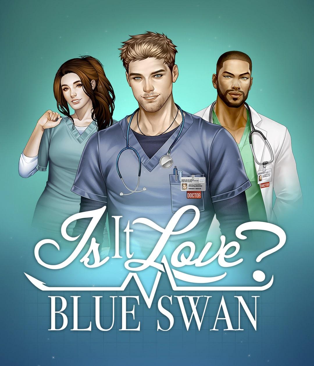 Dans le jeu Is It Love l'un des scénarios est Blue Swan