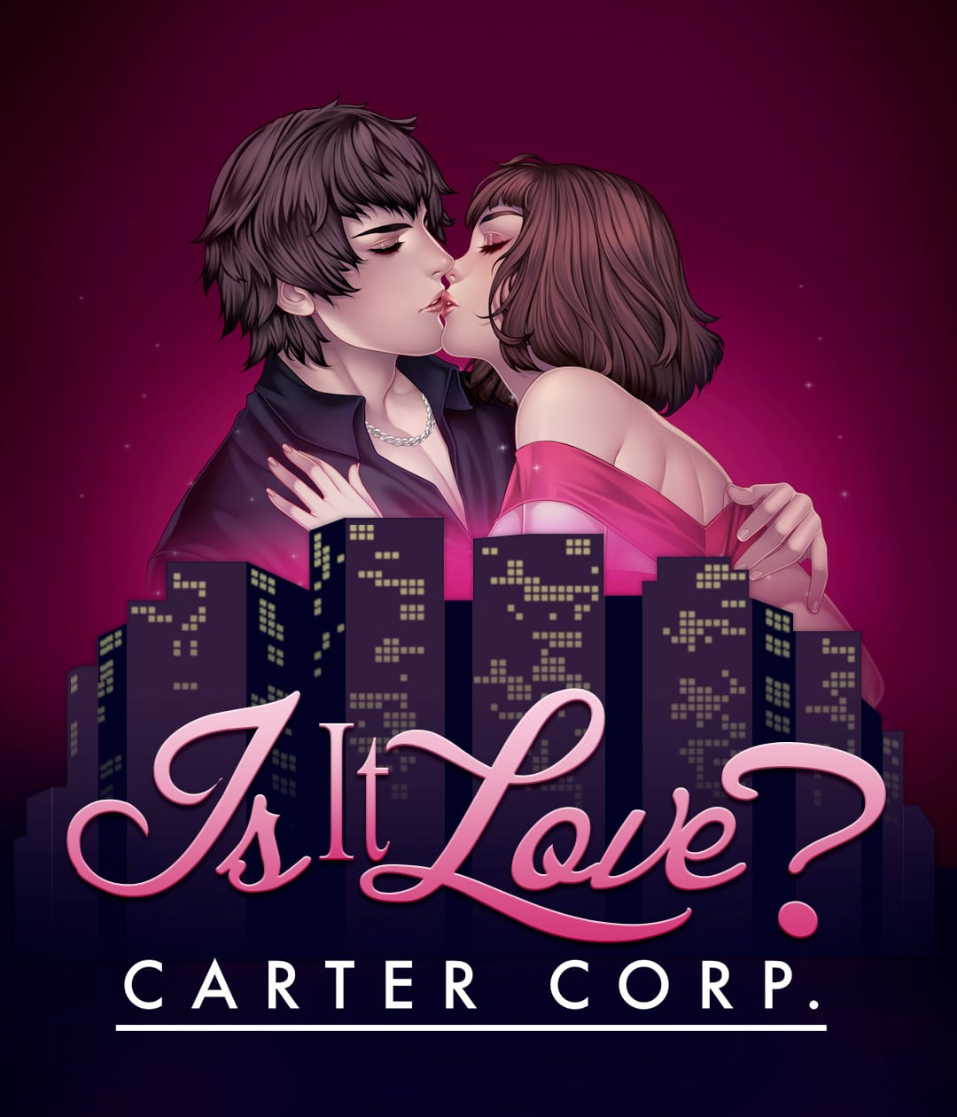 Affiche de l'histoire Carter Corp du jeu Is It Love