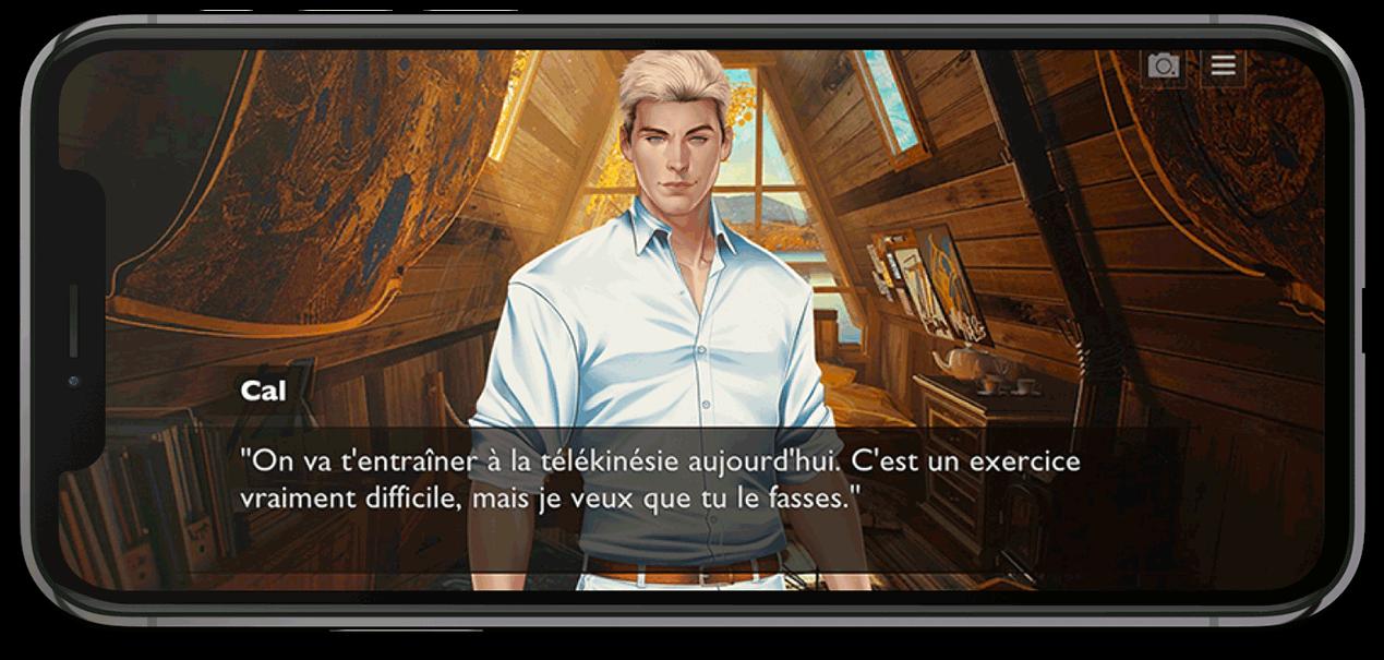 Illustration d'un dialogue dans le jeu
