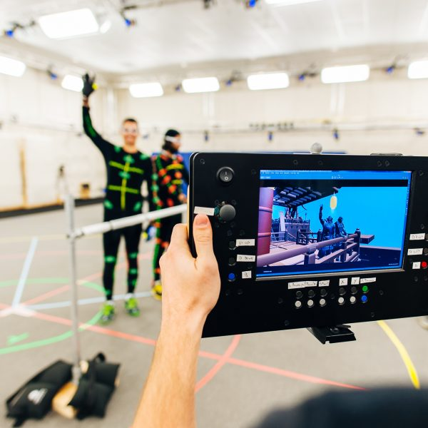 Motion Capture actors in the Performance Capture Studio