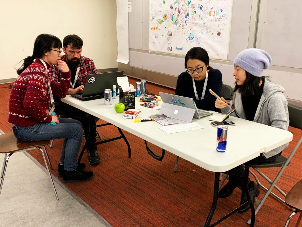 Ubisoft Toronto programmers mentor SheHacks participants during the 24 hour hackathon