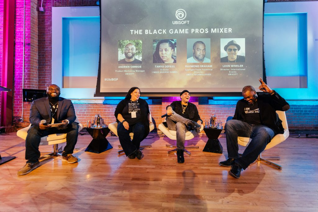Panel discussion at The Black Game Pros Mixer
