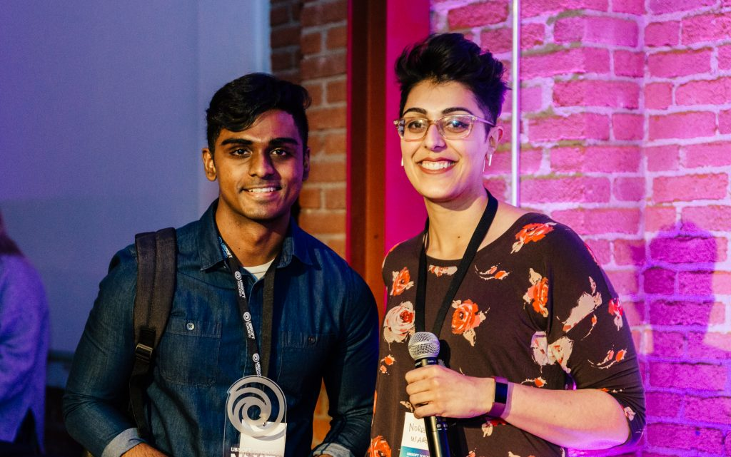 Noreen Rana with NEXT User Interface 2019 winner