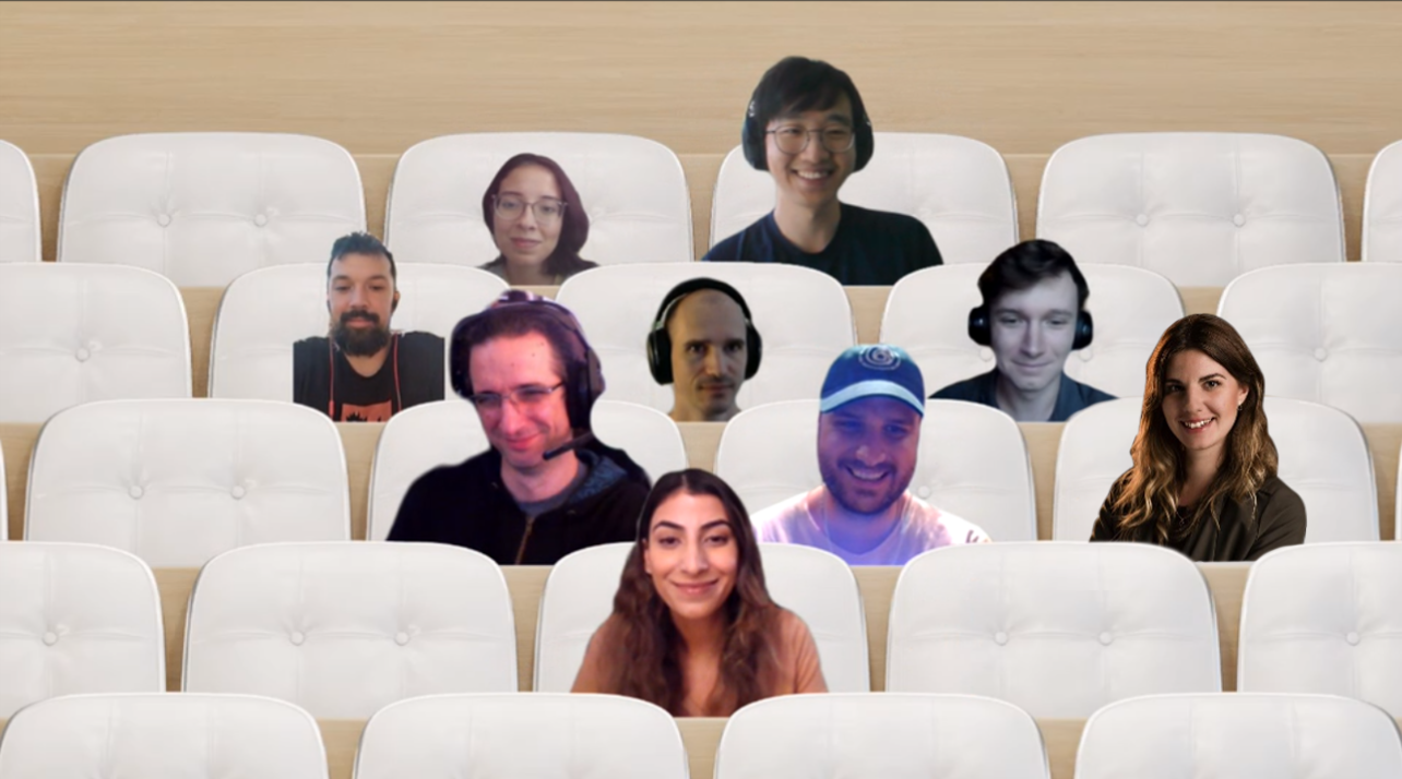 Microsoft Teams photo of students in virtual discussion