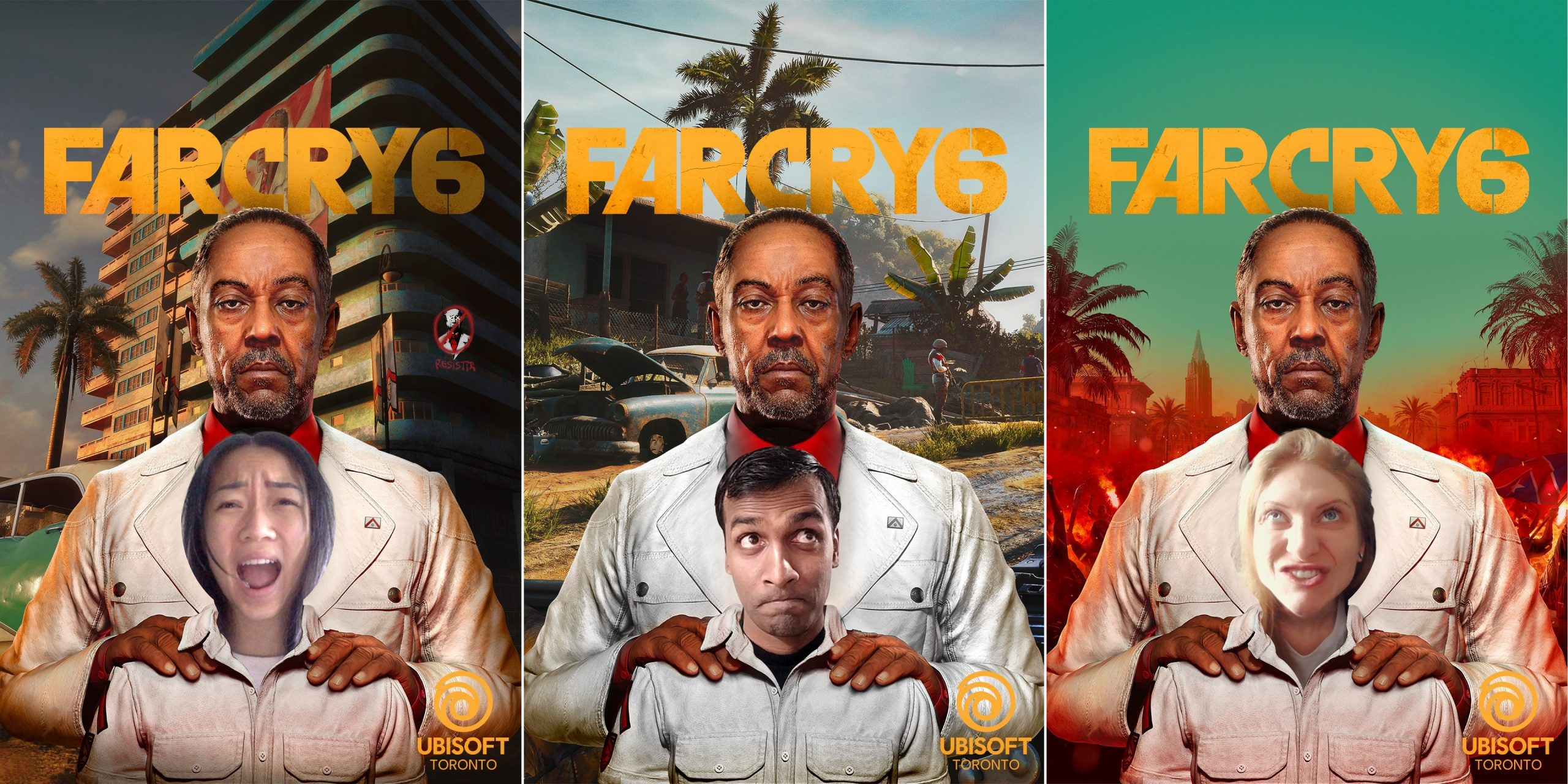 Composite photo of Far Cry 6 photobooth pictures