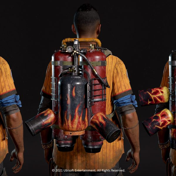 Far Cry 6 art, Furioso Supremo backpack